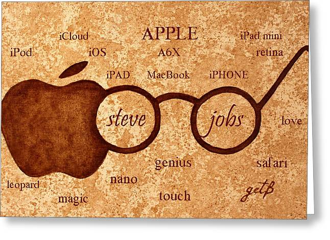Tribute To Steve Jobs 2 Digital Art Greeting Card