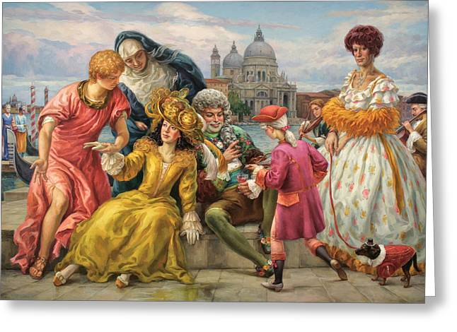 Tribute To Veronese Greeting Card