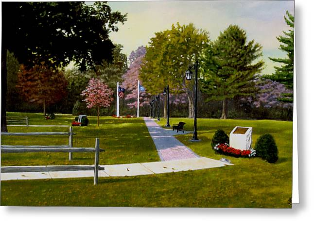 Tribute Walkway Greeting Card by Rick Fitzsimons