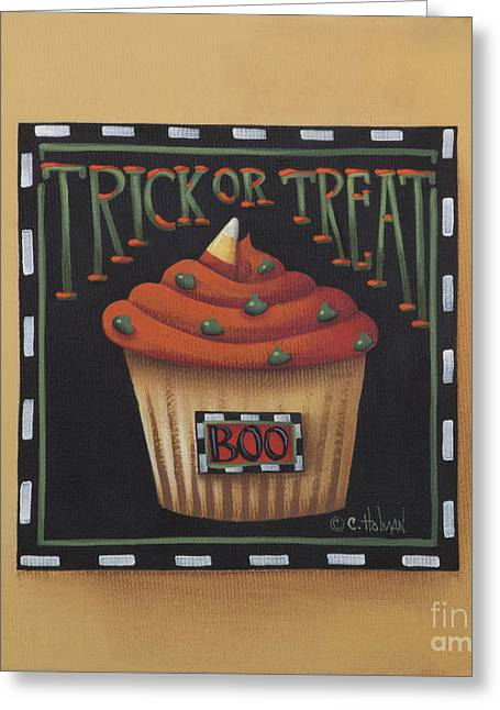 Primitive Decor Greeting Cards - Trick or Treat Greeting Card by Catherine Holman