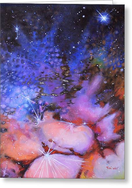 Trifid Nebula Greeting Card by Toni Wolf