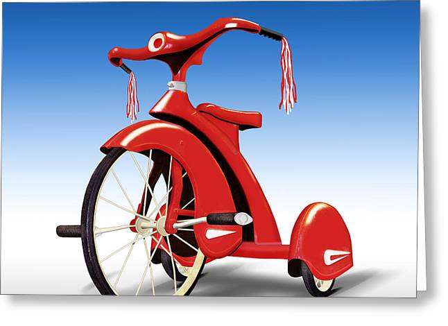 Trike Greeting Card by Mike McGlothlen