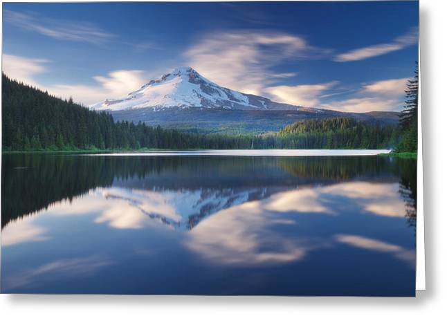 Trillium Lake Escape Greeting Card