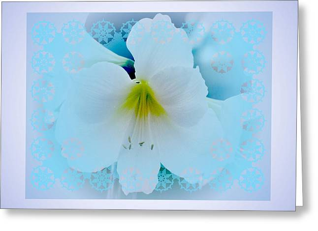 White Lily Greeting Card by Larry Capra