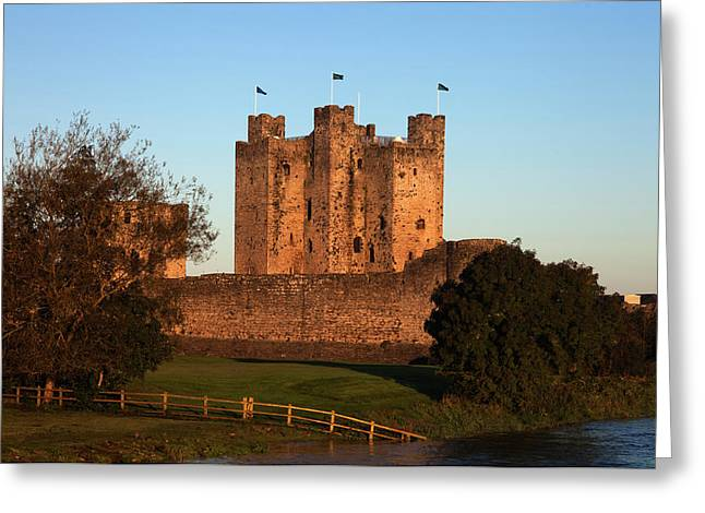 Trim Castle On The Bank Of The Boyne Greeting Card by Panoramic Images