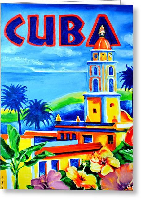 Trinidad Cuba Greeting Card by Victor Minca