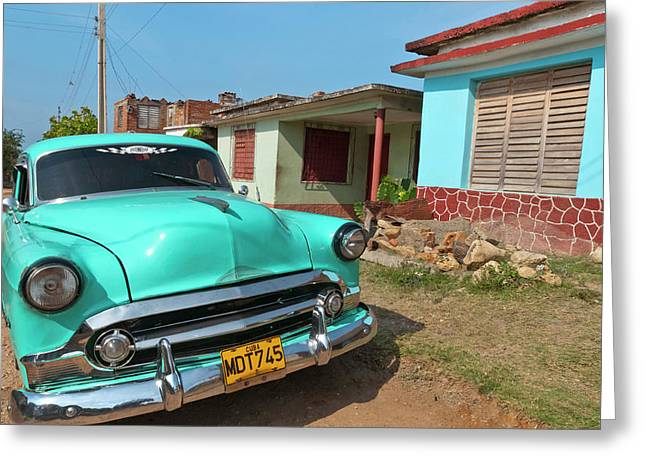 Trinidad, Cuba, With Blue Classic 1950s Greeting Card