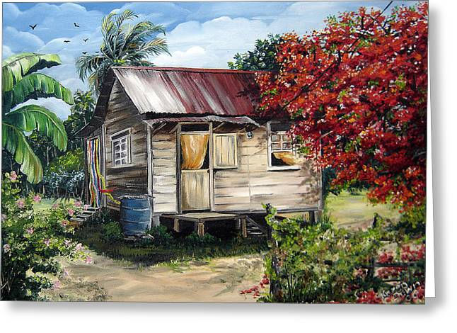 Trinidad Life 1  Greeting Card by Karin  Dawn Kelshall- Best