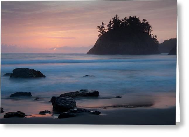 Trinidad Sunset - Another View Greeting Card