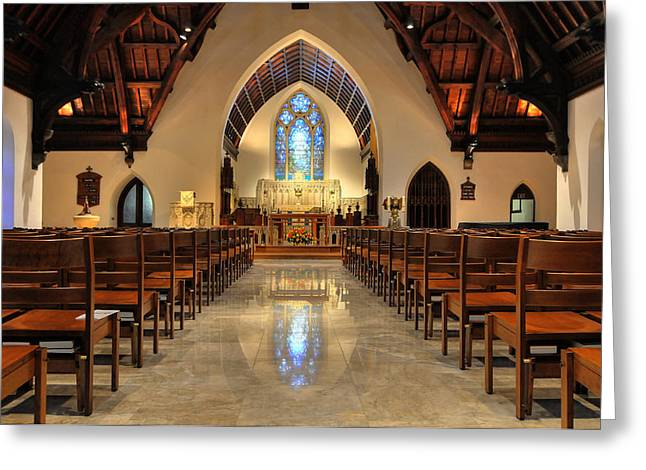 Trinity Episcopal Church Greeting Card by Dan Myers