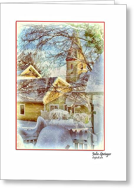 Trinity Episcopal Church In The Snow - Shepherdstown  Greeting Card