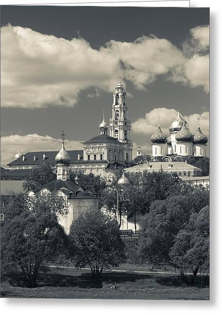 Trinity Monastery Of St. Sergius Greeting Card