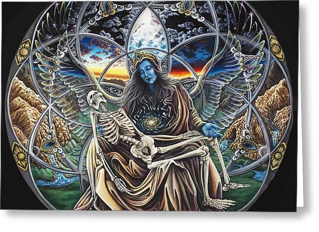 Trinity Greeting Card by Morgan  Mandala Manley