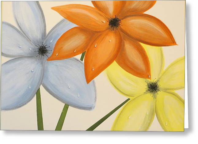 Trio Of Flowers Greeting Card by Tim Townsend