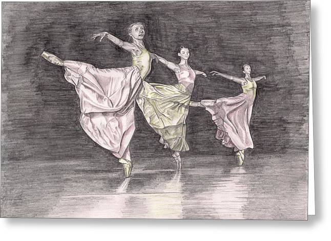 Trio Of Grace Greeting Card by Beverly Marshall