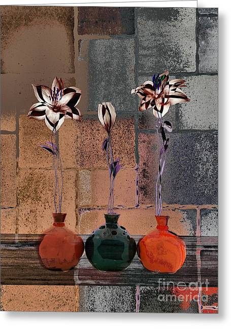 Triolet Floral V41 Greeting Card by Variance Collections