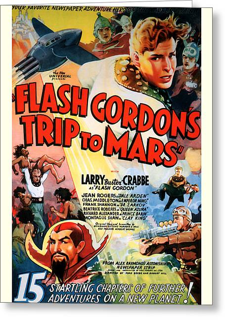 Trip To Mars 1938 Greeting Card