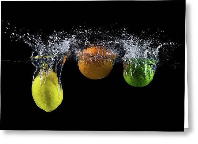 Triple Citrus Splash Greeting Card