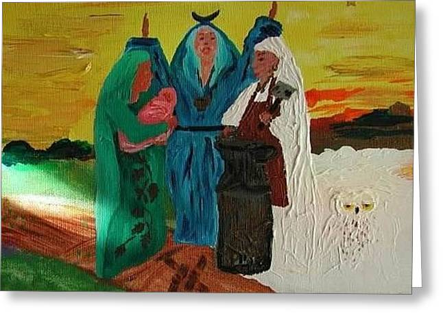 Triple Goddess Greeting Card by Susan Snow Voidets