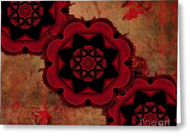Triple Red Rose #1 Greeting Card by Renata Ratajczyk