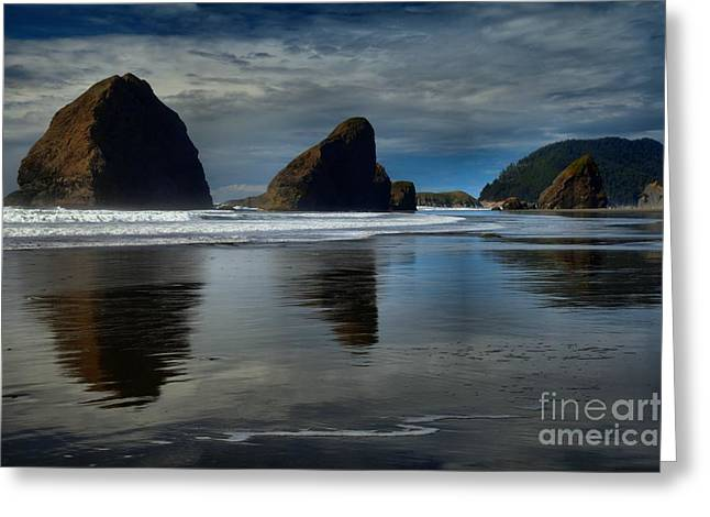 Triple Reflections Greeting Card by Adam Jewell