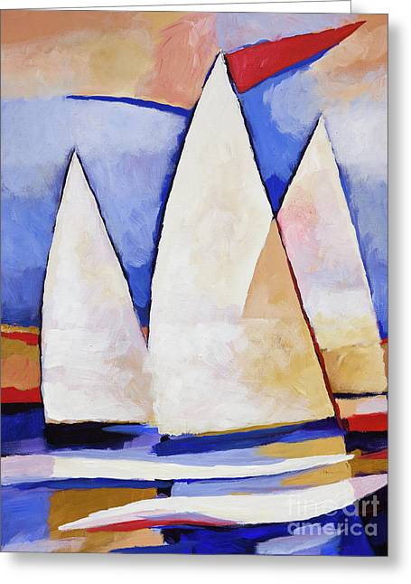 Triple Sails Greeting Card by Lutz Baar