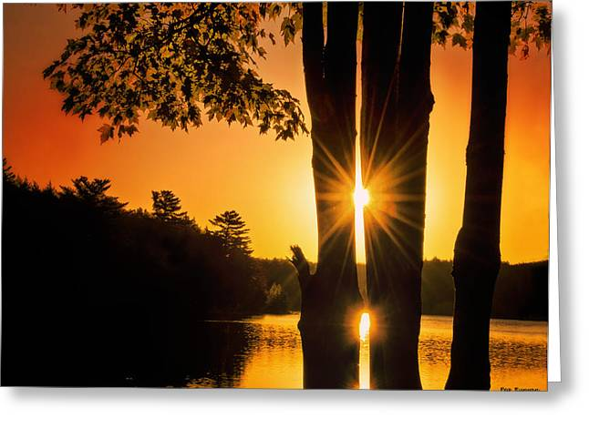 Triple Sunburst Morning Greeting Card