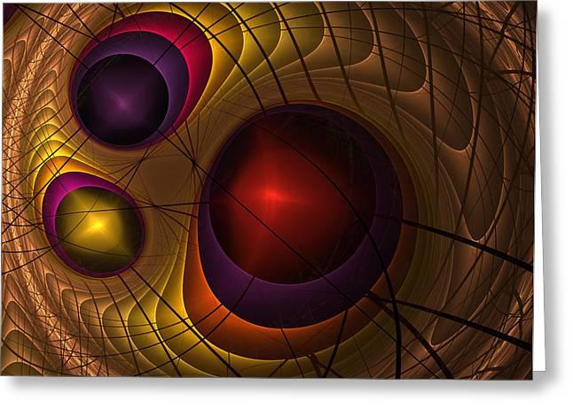 Triple Yin Yang  Greeting Card by Coqle Aragrev