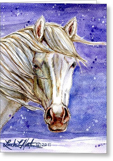 Tripod Wild Stallion Of The Sand Wash Basin Greeting Card