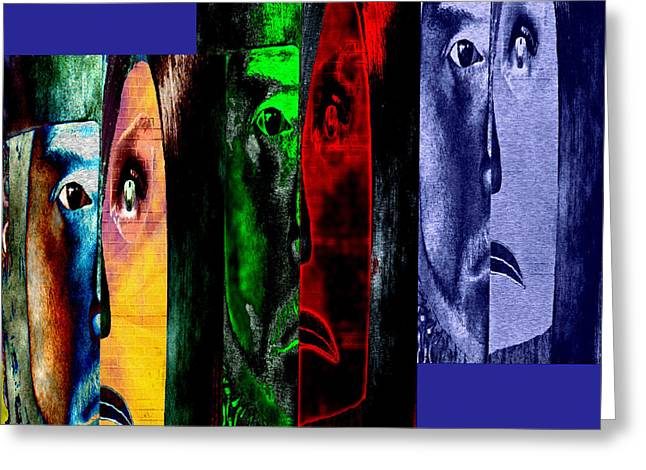 Greeting Card featuring the digital art Triptychon Paerchen II - Triptych Couple II by Mojo Mendiola