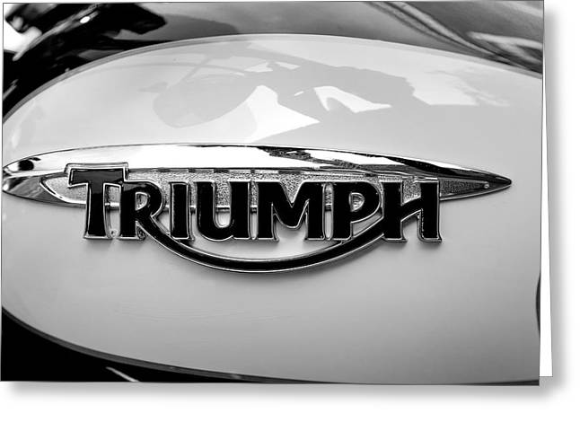 Triumph Fuel Tank Greeting Card