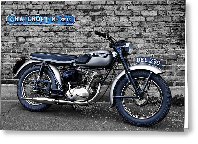 Triumph Tiger Cub Greeting Card by Mark Rogan
