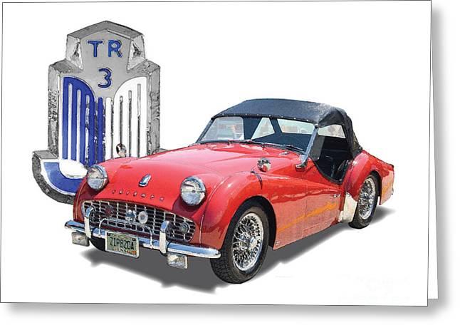 Triumph Tr-3 Greeting Card