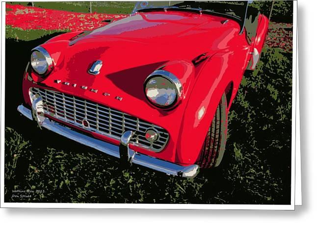 Triumph Tr-3 Greeting Card by Don Struke