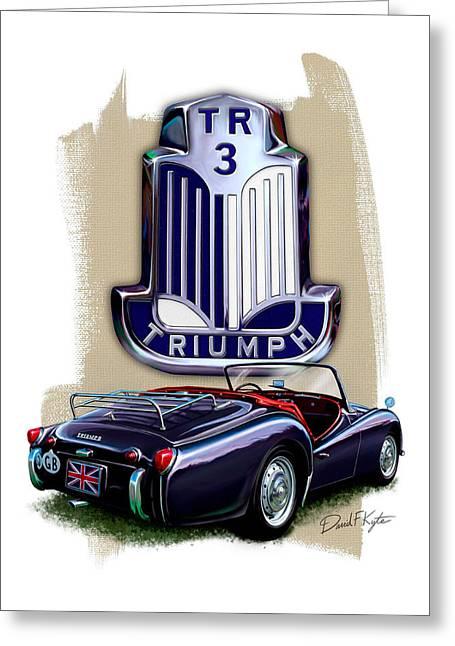 Triumph Tr-3 Sportscar Greeting Card by David Kyte
