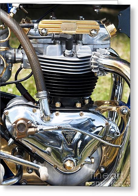 Triumph Trophy Engine Greeting Card by Tim Gainey