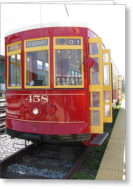 Trolley 458 Greeting Card by Steven Parker
