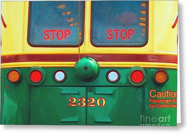 Trolley Car - Digital Art Greeting Card