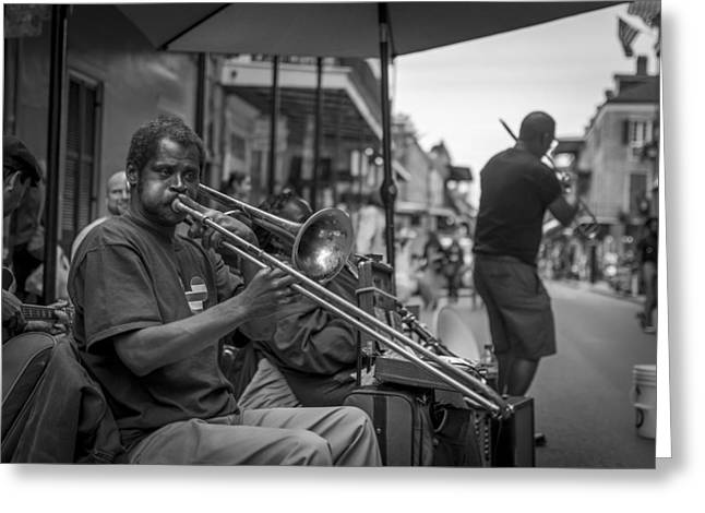 Trombone In New Orleans 2 Greeting Card