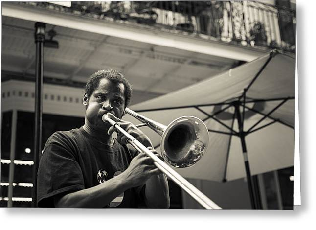 Trombone In New Orleans Greeting Card