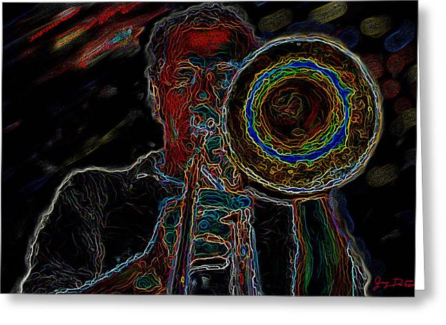 Trombone Player Greeting Card
