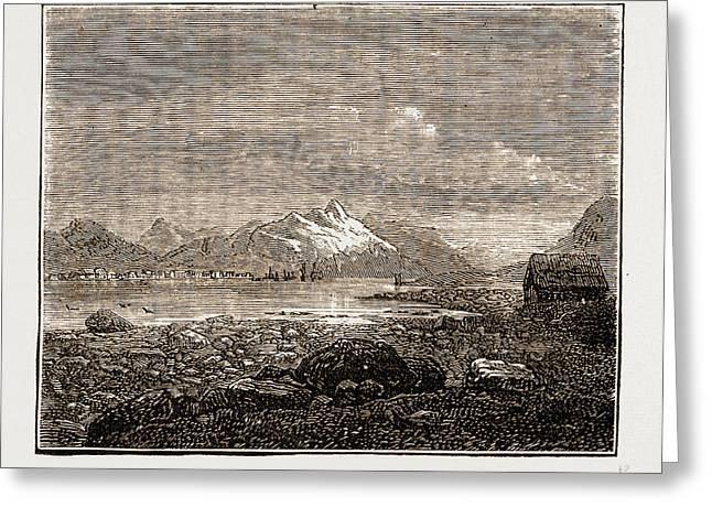 Tromsoe, Norway Engraving 1873 Greeting Card