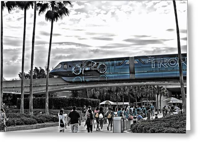 Tron Monorail Wdw In Sc Greeting Card