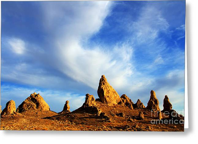 Trona Pinnacles California Greeting Card by Bob Christopher