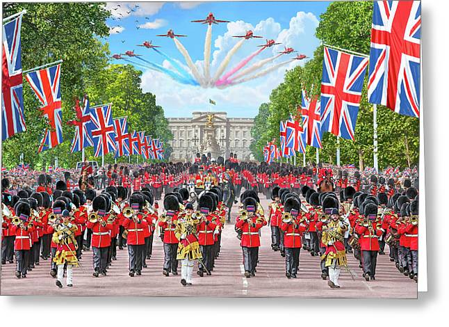 Trooping The Colour - Colonel's Review Greeting Card