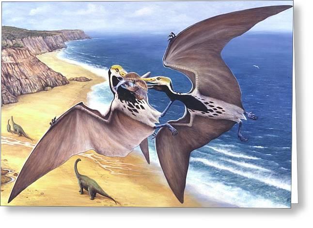 Tropeognathus Pterosaur Greeting Card by Deagostini/uig