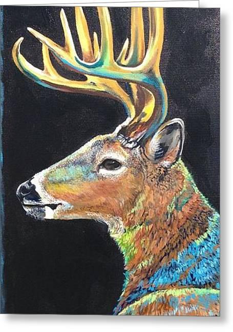 Trophy Buck Greeting Card