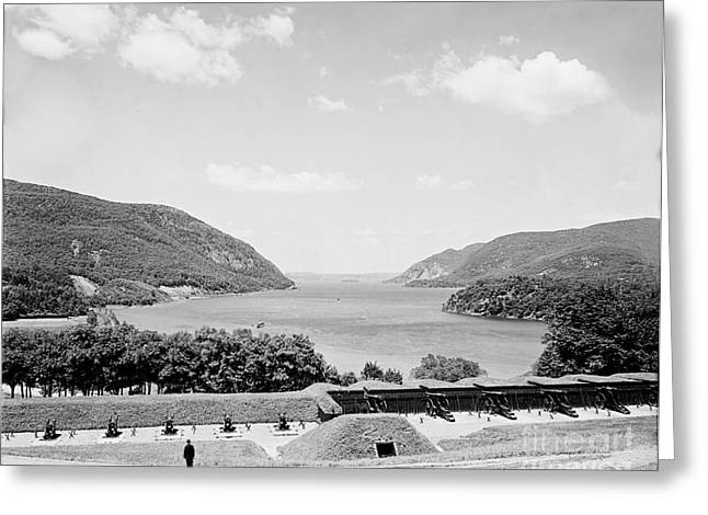 Trophy Point North Fro West Point In Black And White Greeting Card