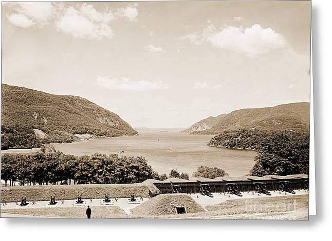 Trophy Point North Fro West Point In Sepia Tone Greeting Card