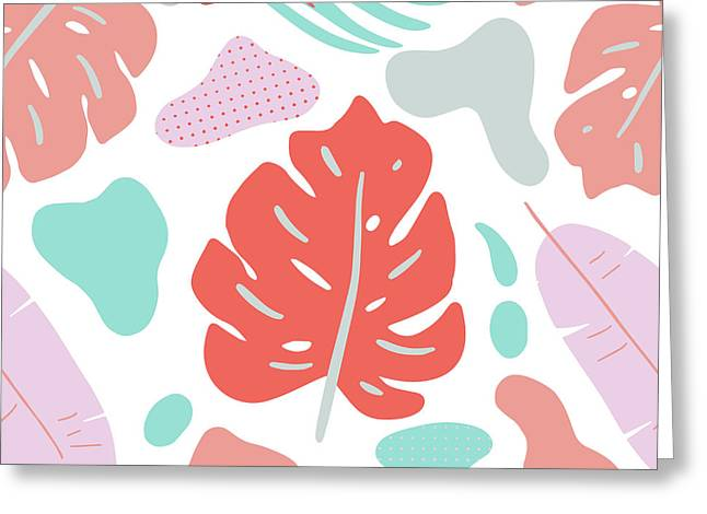 Tropical Background. Modern Floral Greeting Card